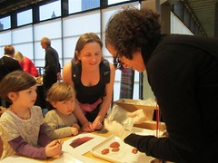 Our younger visitors get to handle 2000 year old pottery