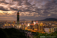 Taipei101, Taipei (yameme) Tags: sunset night canon lumix nightshot taiwan panasonic taipei taipei101  g3     101 m43  flickraward microfourthirds flickraward5 flickrawardgallery