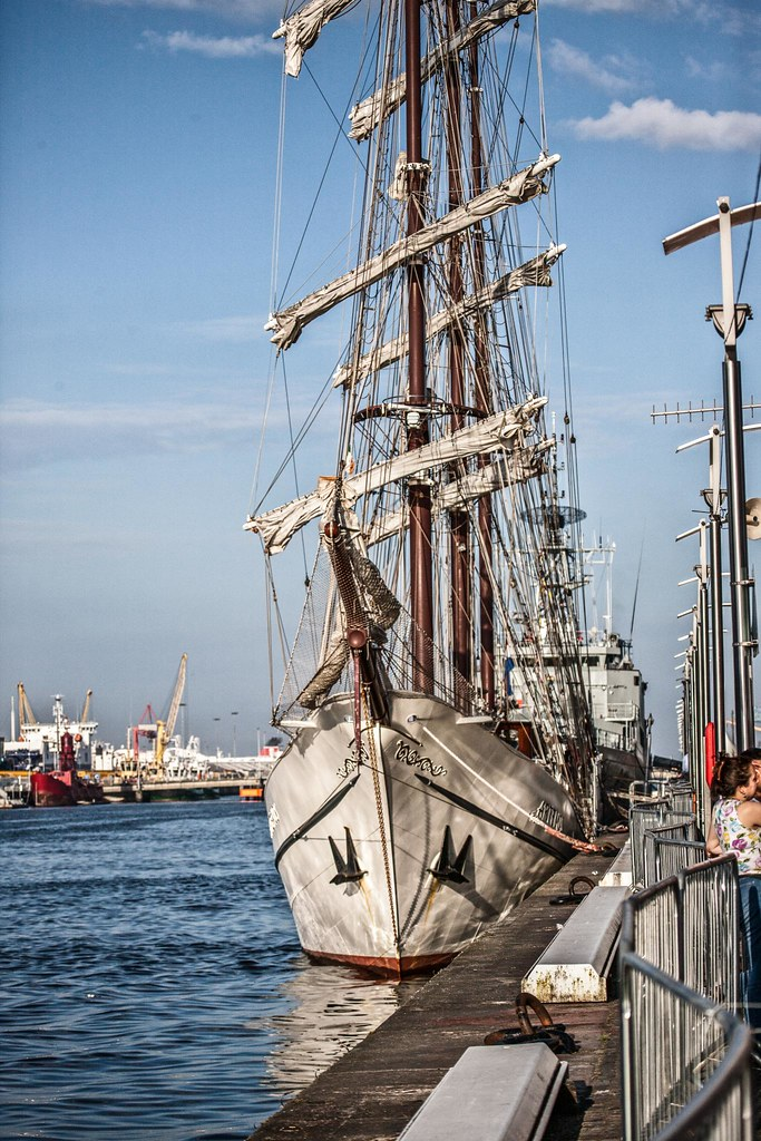 Tall Ship In Dublin Docklands - Artemis
