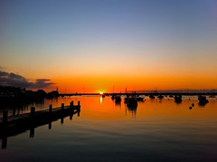 Nantucket Sunrise (Timothy Valentine) Tags: vacation sunrise boats day saturday clear nantucket 0911 iphone cliché