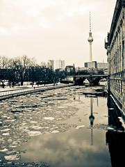 Frosty River - Berlin [Explored] (jp3g) Tags: cold berlin ice river germany frozen frost panasonic g3 museumisland berlintvtower