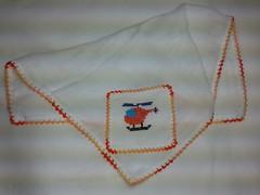 Fralda de Boca - Helicptero F017 (SaluArts) Tags: de pano cruz infantil beb boca ponto paninho fralda fraldinha enxoval