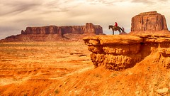 rider at John Ford Point (Marvin Bredel) Tags: red arizona horse rock utah cowboy desert indian navajo monumentvalley rider oldwest monumentvalleytribalpark coloradoplateau johnfordpoint lookofsouthwest marvinbredel