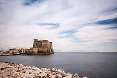Castel dell'Ovo, Napoli, Italia... (Minieri Nicola) Tags: city sunset sea summer sky castle beach landscape italia napoli sole architettura longexposition