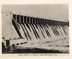 Murray Views No 12 Spillway, Hume Weir, Albury, NSW (Daddys 'lil Girl) Tags: postcard australia nsw historical 1949 wagga albury riverina