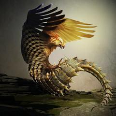 Basilisco (jaci XIII) Tags: bird animal cock lizard ave chimera mythology lagarto galo quimera mitologia