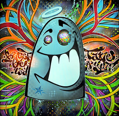 * Forget the LSD, take a YUTI! * (-ABLOK-) Tags: light art painting graffiti colours yeah colorfull humour spray peinture lsd canvas vision hallucination graff psychedelic ouverture bombe toile pochoir acrylique naif cerveau miammiam hooooooo drogue yuti crbrale ablok
