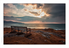 On our travels, there are many quiet evenings we cherish. This is one for me.  Isle of Harris, Scotland (Gary Rowlands) Tags: light sea clouds landscape scotland waves explore harris isles explored leicas summarits35
