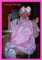 Pink Emily at the Purple Parrot (emily_sheldon) Tags: pink fairy sissy thighhighs sissydress