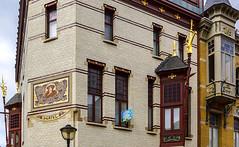 Herbst - Zurenborg und die Belle Epoque in Antwerpen (Ulrike Parnow) Tags: europa herbst antwerpen belgien flandern zurenborg cogelsosylei transvaalstraat waterloostraat jugendstilinberchem