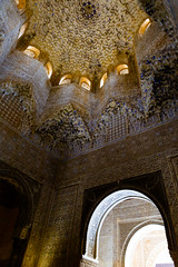The Alhambra, Granada - Palacios Nazares - Palacio de los Leones - Patio de los Leones (Court of the Lions), ceiling of the Sala de los Abencerrajes (a family name) (peripathetic) Tags: building beauty architecture canon buildings spain worldheritagesite espana alhambra moorish granada 5d palaces 2016 nasrid nazaries 5dmkiii 5dmk3 canoneos5dmk3