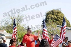 Art Leal speaking at Cesar Chavez March (Art Leal) Tags: art march cesar chavez leal artleal