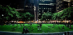 Bryant Park, New York City (Surrealplaces) Tags: new york city newyorkcity urban newyork skyline night centralpark gotham bryantpark brookylnbridge