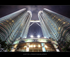 D.R.I.V.E.N. T.O. G.E.T. A.H.E.A.D. :: HDR (:: Artie | Photography ::) Tags: reflection building tower architecture modern night photoshop canon landscape lights landscapes skyscrapers tripod towers twin wideangle grandprix malaysia kualalumpur formula1 ef 1740mm hdr klcc suria petronastowers artie cs3 3xp f4l photomatix tonemapping tonemap 5dmarkii 5dm2