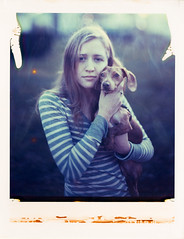 Lauren & Strudel on Polaroid 8x10 (mat4226) Tags: longexposure portrait dog sun cute lauren film puppy polaroid outdoors fuji w adorable sunny wideangle dachshund 8x10 portraiture flare fujifilm backlit lovely f56 expired fujinon largeformat strudel impossible 809 expiredfilm instantgratification filmphotography instantfilm peelapart reciprocity 210mm 8x10film polaroid809 bellowsfactor laurenbagley theredison believeinfilm