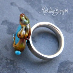 """Tan Bunny on Turquoise Ring Top • <a style=""""font-size:0.8em;"""" href=""""https://www.flickr.com/photos/37516896@N05/6418484877/"""" target=""""_blank"""">View on Flickr</a>"""