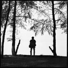 32221719 (Nasey) Tags: blackandwhite bw 120 6x6 film standing mediumformat stand blackwhite alone squareformat malaysia bnw terengganu carlzeiss sillhuette 80mmf28 hasselblad503cw setiu nasey nasirali kampungmangkuk poggyhuggies planarcft