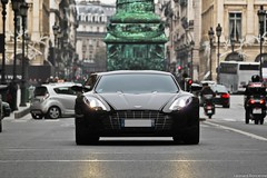Aston Martin One-77 (Bethove) Tags: road light black paris face car speed canon eos one 1 noir place martin pointer d lumire sigma front os route seven seventy laser 300 500 leonard rue 70 77 phare supercar avant aston dg vendome sighting 177 70300 500d seventyseven spotiing bethove one77 boncenne
