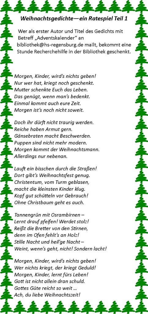 Weihnachtsgedicht heilige nacht