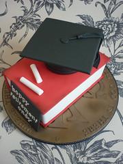Headmaster Retirement cake (The Designer Cake Company) Tags: book chalk mortarboard teacher retirement headmaster