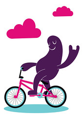 Bike Monster (Samantha Eynon) Tags: silly bike bicycle monster fun creature vector