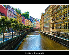 Western Bohemia [Karlovy Vary] (Luciano Kupreak) Tags: light building art love water colors modern canon construction focus wasser niceshot bokeh magic sigma explore dreams czechrepublic adventures hdr luciano cechy karlovy vary ceska 2011 karlsbad cesko 50d explored canoneos50d canon50d kupresak