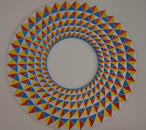 Papierreliëf met primaire kleuren