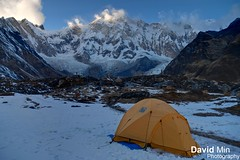 Annapurna Base Camp, Nepal - Frozen Morning (GlobeTrotter 2000) Tags: trip morning travel nepal winter vacation mountain snow mountains cold tourism ice expedition nature sunrise trekking trek landscape climb frozen heaven outdoor hiki