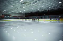 Hockey Rink - 12.5.11 (Jeff Minarik) Tags: winter usa chicago canada reflection ice hockey america frozen illinois nikon rink puck romeoville