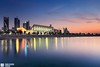 Kuwait - The Parliament (Sarah Al-Sayegh Photography | www.salsayegh.com) Tags: city sunset sea reflection water clouds canon eos mark parliament ii 5d kuwait filters nationalassembly kuwaitcity مجلس theparliament الامة canoneosmarkii مجلسالامة