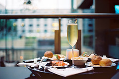 Happy Evening (a l e x . k) Tags: film hotel evening pentax grand cocktail hyatt lx mubai fa43mmf19 grandclub