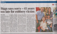 Daily Telegraph - 13 Nov 2011 (Ronnie Biggs The Album) Tags: ronnie biggs greattrainrobbery oddmanout ronniebiggs ronaldbiggs