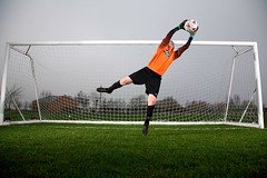 Goalkeeper at full stretch (Mark-Crossfield) Tags: pictures uk greatbritain england photo goal goalie image photos action dive picture images save stretch actionshot goalkeeper keeper rainford 2011 photosof picturesof markcrossfield rainfordrangers