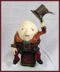 Humpty Dumpty (renellesdolls) Tags: sculpture brick hat wall book top ooak story clay humpty dumpty tale sculpt polymer renellesdolls