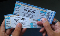 'The Beards' concert ticket designed & printed prop for music video (danimations) Tags: graphicdesign concert graphics band fake beards ticket prop artdepartment thebeards danimations