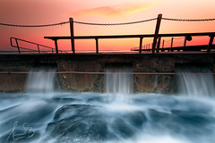 North Narrabeen Overflow (sachman75) Tags: longexposure morning orange seascape water pool sunrise dawn waves sydney australia baths nsw newsouthwales tidalpool narrabeen overflow northernbeaches canon1740mmf4 leefilters 5dmark2 canon5dmarkii ndgrad3stops singhrayreversendgrad3stops