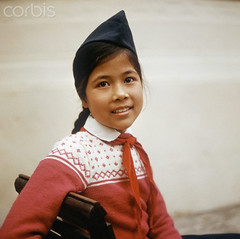 Hanoi 1973 - A Vietnamese girl with cap and red scarf (manhhai) Tags: family usa history smiling war asia southeastasia ship child familie kinder krieg vietnam communism company story northamerica everyday population marxism socialism soi indochina geschichte sozialismus facialexpression alltag postwarperiod gesellschaft socialissues nachkriegszeit soziales 70erjahre lacheln soigesellschaftsociety postwarera zbh vietnamkrieg 1970erjahre bevolkerung afterwarperiod