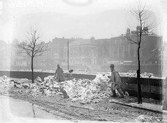 Into the Liffey (National Library of Ireland on The Commons) Tags: trees ireland dublin snow men 1936 thirties 1930s quay liffey february riverliffey shovelling leinster burghquay nationallibraryofireland independentnewspaperscollection