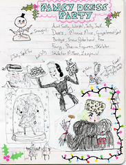 Xmas 2011 sketchbook (Andrea Kett) Tags: christmas furcoat holly fairylights fancydressparty andreakett andreakettillustrations