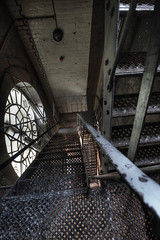 Traveling through time. (magoo) Tags: urban abandoned clock stairs chocolate yorkshire clocktower exploration derelict deserted decayed magoo terrysyork