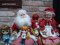 Álbum de família. Iani,Valentine Marie,Aisha com Papai e Mamãe Noel!!