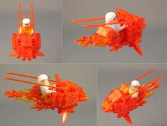 TRANSMUTE! Multiview (halfbeak) Tags: orange princess transparent battleoftheplanets lsb 2011 speederbike transmute legospeederbike colourmefascinated