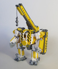 Beaver Hardsuit 001 (OrangeKNight) Tags: arms lego crane hard engineering mini canadian beaver arctic suit minifig division combat mecha mech mechanized hardsuit faction foitsop