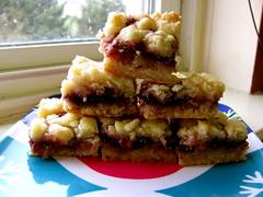 Raspberry Streusel Bars (lorinelise) Tags: christmas holiday cookies bar dessert baking mix berry bars cookie sweet sugar gift raspberry bites jam bake streusel