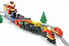 Twas The MOC Before Christmas (SavaTheAggie) Tags: santa christmas xmas eve white snow scale electric night train coach track lego diesel tracks engine rail trains mini before steam presents micro locomotive claus sleigh microscale miniscale