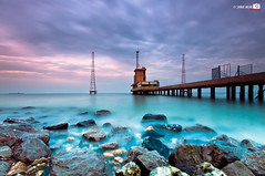 Beach Long Exposure (Shahbaz Hussain's Photography) Tags: city light sea sky brown white black color reflection art love beach water colors dark lens nice nikon focus long exposure raw niceshot view image 10 royal file iso arab 25 falcon shutter inside 100 kuwait sec length correction hussain focal shahbaz flickraward d300s ringexcellence blinkagain