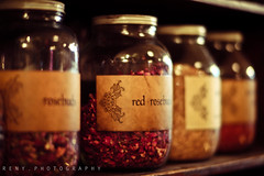 rose :: petals (reny :: honey) Tags: seattle old flowers roses zeiss canon petals 85mm images shelf getty 5d pikeplace rosepetals jars planar tenzingmomo