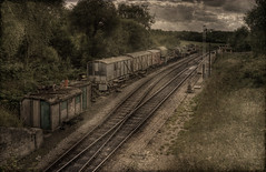 Sidings (Steve's Photography :-)) Tags: uk texture nikon crossing tracks railway dorset points d200 hdr textured wareham carriages castlecorfe steveclancy