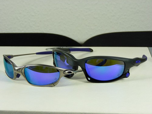 f017817a8d526 Oakley Juliet Plasma w Violet Irid Infinite Hero vs Split Jacket Carbon w  Violet