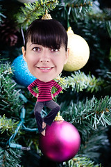 "Day 130/365 ""Just Hanging Around after Christmas"" (Beth Duri) Tags: christmas portrait selfportrait silly photoshop miniature funny manipulation ornaments christmasballs bobblehead 365 bighead selfie hangingaround project365"